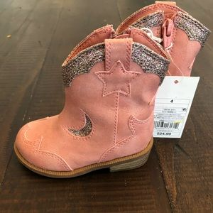 Pink glitter sparkle cowgirl boots
